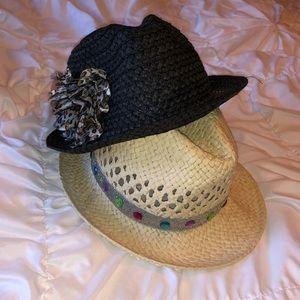 2 NEW Girls Hats